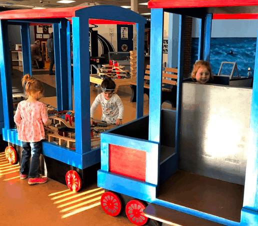 Local children playing at the Cheshire Children's Museum