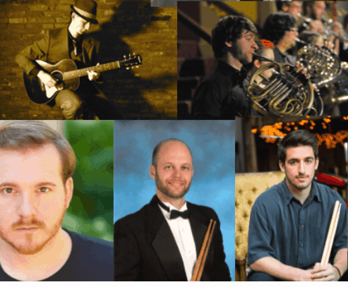 Featured images from Elm City Music's website of musicians.