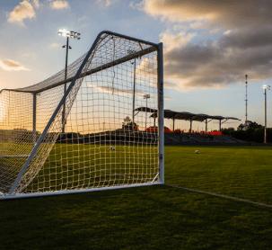 A soccer net.
