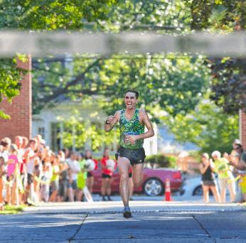 A runner in the Demar Marathon