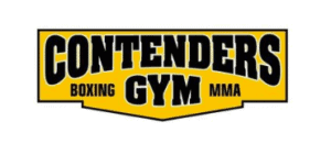 A yellow and black logo for Contenders Gym