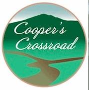 The logo for Coopers Crossroads.