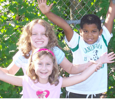 Three children at Prokect Keep after school program