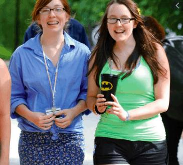 Two girls in the upward bound trio program