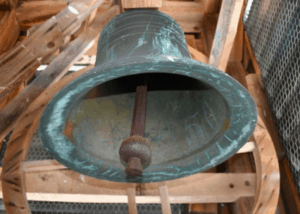 A picture of the bell at the library