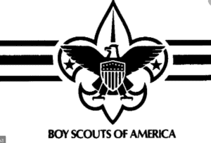 The logo in black for the Boy Scouts of America