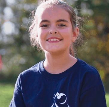 A runner for Girls on the Run