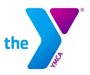 The blue logo for the YMCA