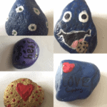 rocks with paint on them
