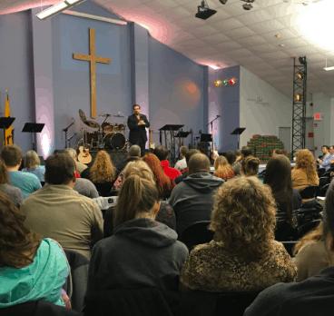 Worship going on at the Christian Life Fellowship