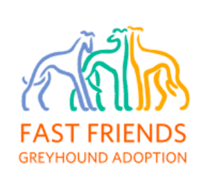 The logo for Fast Friends adoption