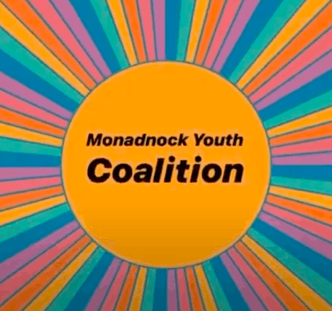 A decal from Pinterest with The Monadnock Youth Coalition written across it.