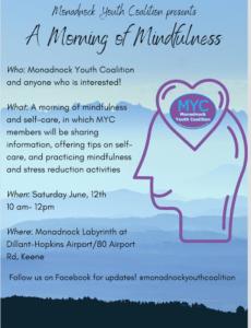 Mindfulness blue poster for MYC